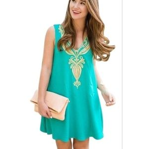 LILLY PULITZER Owen Trapeze Dress in Agate Green